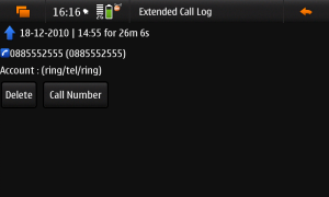 Extended Call Log